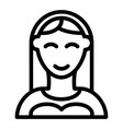 bride line icon woman vector image