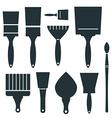 Brushes Icons Set - Brush Isolated on White vector image vector image