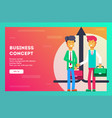 business concept businessmen shaking hands vector image