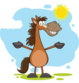 Cartoon horse vector image vector image