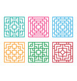 chinese ornament for window and floor vector image vector image