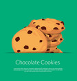 chocolate cookies vector image vector image
