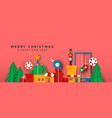 christmas and new year banner papercut toy city vector image