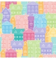 Colorful background of houses vector image