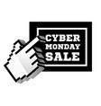 cyber monday sale with computer 3d cursor pointer vector image