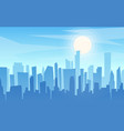 daytime cartoon flat style cityscape skyline vector image