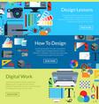digital art design horizontal banner vector image vector image