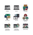 digital marketing icons set 3 vector image vector image