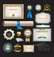 diploma and school elements set collection vector image vector image
