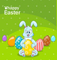 easter bunny egg hunt cartoon comic rabbit vector image vector image