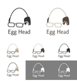 Egg Head Logo Template Set For A Doctor Scientist vector image