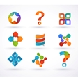 elements and icons infographics vector image vector image