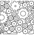 figure gears bacground icon vector image