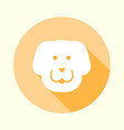 flat pastel orange dog icon vector image vector image