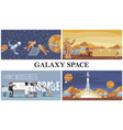 flat space exploration composition vector image vector image
