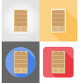 furniture flat icons 05 vector image vector image