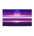futuristic abstract banners with sun rays on vector image vector image
