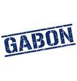 Gabon blue square stamp vector image vector image