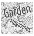 gardening magazines Word Cloud Concept vector image vector image