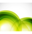 Green eco wave abstract background vector image