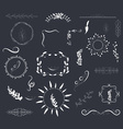 Hand drawn set of florals wreaths and ribbons vector image vector image