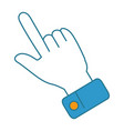 hand index isolated icon vector image vector image