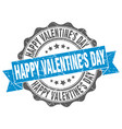 happy valentines day stamp sign seal vector image