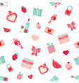 holiday pattern with elements for valentines day vector image
