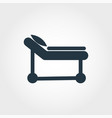 hospital cot icon line style icon design hospital vector image