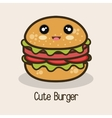 icon cartoon burger design vector image