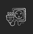 industrial wall socket chalk white icon on black vector image vector image