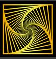 inward concentric rotating spirally squares vector image