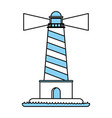 isolated lighthouse design vector image