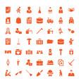 job icons vector image vector image