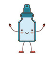kawaii cartoon detergent bottle in colorful vector image