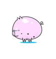 kawaii pig vector image