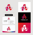 letter alphabet a rounded logo free business card vector image vector image