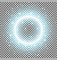 light ring with stardust aqua color vector image vector image