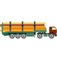 logging truck isolated on white background vector image