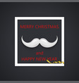 modern mustache santa icon background vector image vector image