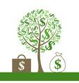 monetary tree vector image vector image