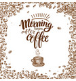 morning begins after coffee vector image vector image