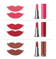 mouth and shades of lipstick vector image