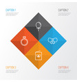 new icons set collection of butterfly knot vector image