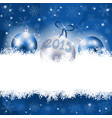 new year background with christmas ornament vector image vector image