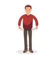 no money man with pockets turned outward vector image vector image
