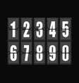 numbers set in modern style elements vector image vector image
