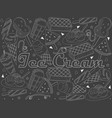 objects of linear art piece of chalk theme of vector image vector image