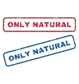 Only Natural Rubber Stamps vector image vector image