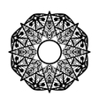 Ornamental star Round ornament Ethnic mandala vector image